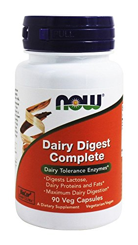 NOW Dairy Digest Completo, 90 Cápsulas Veg 90 g