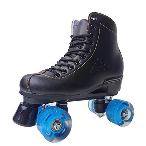 Retro Rollschuhe Disco Roller Skate Mit ABEC-7 Lager Und Langlebigen Rädern Rollschuhe Kinder Quad Skate Jungen Mädchen Rollschuhe Indoor,Schwarz,45