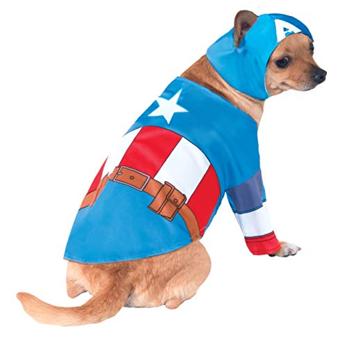 Rubie'S Disfraz Oficial para Perro, Capitán América, Grande