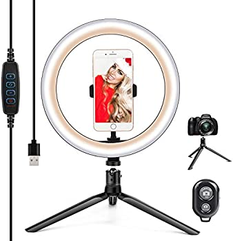 10.2 Inch Dimmable Selfie LED Ring Light with Stand & Phone Holder
