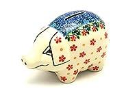ポーランド陶器貯金箱 チェリージュビリー