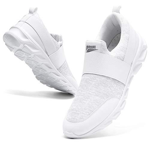 Zapatos Comodos Casuales de Hombre Sin Cordones Trabajo Trekking Deportivas Sneakers Sport Tenis Jogger Man Running Shoes Minimalistas Zapatos Azules Caballero Antideslizantes Tacon Bajo Size 46 EU
