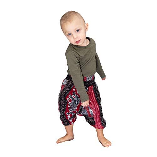 Mienloco Baby Kinder Jungen und Mädchen Aladinhose Haremshose (1-2 Jahre, 3)