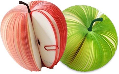 もぎ取って使う フルーツ メモ帳 癒しステーショナリー SilverCoral (青リンゴ&赤リンゴセット)