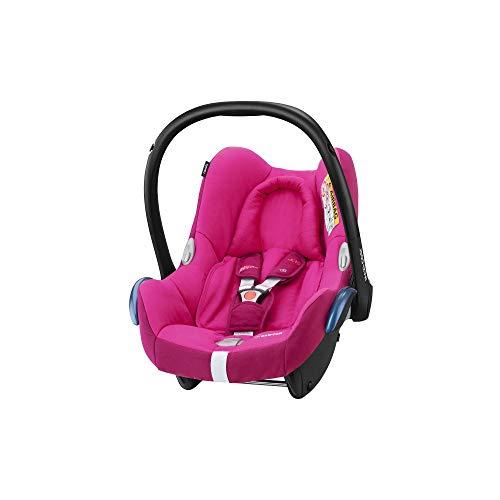 Maxi-Cosi CabrioFix Babyschale, Baby-Autositze Gruppe 0+ (0-13 kg), nutzbar bis ca. 12 Monate, passend für FamilyFix-Isofix Basisstation, Frequency Pink (rosa)