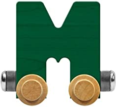 product image for Maple Landmark NameTrain Bright Letter Car M - Made in USA (Green)
