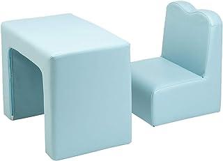 Alightup Table et Chaise Multifonctionnelles pour Enfant, Fauteuil pour Enfant Permutable pour Enfant (Bleu Ciel)