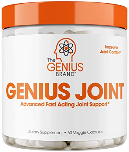 Genius Joint Pain Relief Supplement - w/ collagen & turmeric, knee and back support supplement for joint health, Natural Super Strength for aches, & soreness. 60 pills/capsules