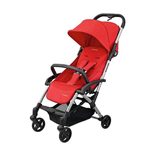 Maxi Cosi Laika Baby-Kinderwagen, ultra-kompakter und federleichter Buggy von der Geburt an, einfacher Faltmechanismus, 0 Monate - 3,5 Jahre, 0 - 15 kg, vivid red/rot