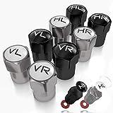 JK Trade NEU 8X ABS-Kunststoff Ventilkappen Auto zur Reifenmarkierung mit integrierter Dichtung für eingelagerte Winter- & Sommerreifen, Universal, KFZ-Zubehör (Mixed V2)