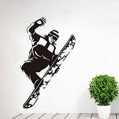 Muurstickers Jhping Pegatinas De Pared Trampolín Deportivo Pegatinas De Snowboard Decoración De Dormitorio para Niños Autoadhesivo Vinilo Desmontable Retrato 59 * 35 cm