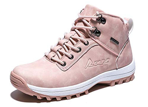 Hombre Botas Invierno Impermeables Botas de Nieve Cálido Fur Forro Aire Libre Senderismo Zapatos Zapatos Sneakers Antideslizante