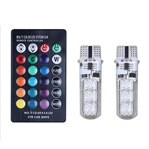 WYJBD Fernbedienung T10 5050 der Auto-LED Sieben Farben Glänzende Lichter Auto LKYHYQ Motorradzubehör