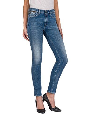 Replay Damen ZACKIE Skinny Jeans, Blau (Mid Blue Denim 10), W29/L30