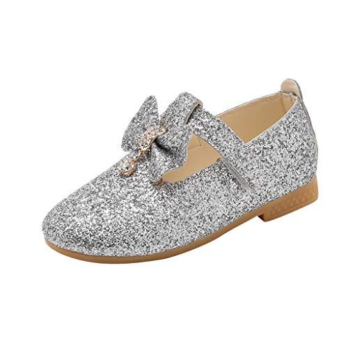 Mymyguoe Kinder Mädchen Wohnungen Prinzessin Party Schuhe mit Blumen Schnalle Pailletten Geschlossene Ballerinas Kleinkind Mary Jane Halbschuhe Rutschfest weichen Sohlen Babyschuhe Einzelne Schuhe