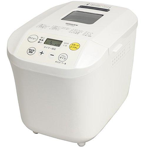 [山善] ホームベーカリー(1斤/0.5斤選択可能) ホワイト YBA-560(W) [メーカー保証1年]