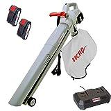 IKRA 3in1 aspiratore soffiatore trituratore a batteria ICBV 2/20, incl. 2 batterie e doppi...