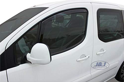 J&J AUTOMOTIVE   Deflecteurs d'air Déflecteurs de Vent Compatible avec Peugeot Partner II 2 Portes 2008-prés 2pcs