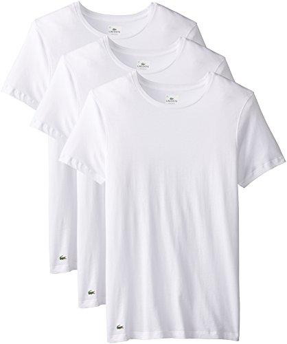 Lacoste Herren Men's 3 Pack Supima Cotton Crew Neck Tee Unterhemd, weiß, Mittel (3er Pack)