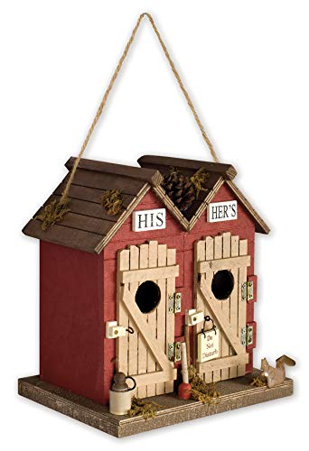 Sunset Vista Designs BPS-04 Decorative and Functional Outdoor Birdhouse, Outhouse