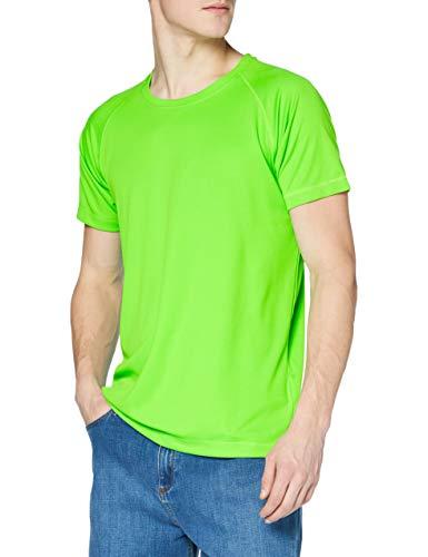 Stedman Apparel Active 140 Raglan/st8410, T-Shirt Uomo, Green (Kiwi Green), Large (taglia Produttore: Large)