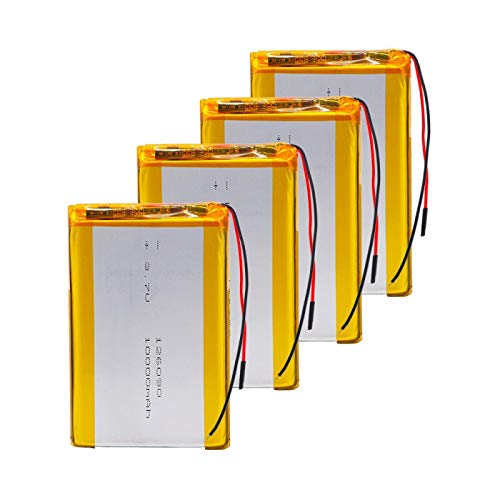 Grehod DVD Tableta GPS batería Recargable 3.7V 10000mAh polímero batería de Litio reemplazo 126090 batería de Litio 4pcs