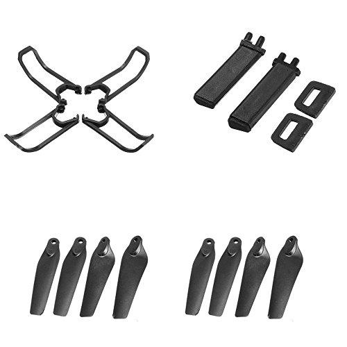 EACHINE E58 WiFi FPV Drone Accessories 8 Pcs Blades 4 Pcs Propeller Guard 2 Pcs Landing Gear Skids Sets