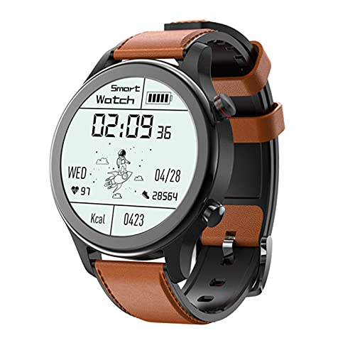 YDK MT18 Reloj Inteligente Deportivo A Prueba De Agua 1.28 Pulgadas BT Llamada A La Foto Remota De Seguimiento De Ritmo Cardíaco Smartwatch para Android iOS Teléfono,B