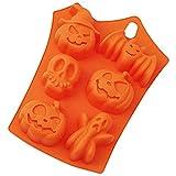 Moules en silicone pour Halloween, moule à chocolat Halloween en forme de citrouille, fantôme, tête de mort, chauve-souris, accessoires de pâtisserie pour fête d'Halloween