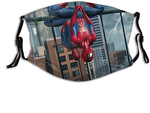 Super Hero Fans - Mascarillas faciales ajustables reutilizables para mujeres y hombres con 2 filtros unisex, superhéroe, talla única