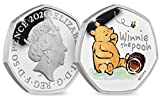 Fev's Winnie the Pooh 2020 Official Coin (1st of 3) Coloured 50p Coin - Uncirculated with Fev's Certificate of Authenticity, Care Advice and Cleaning Cloth