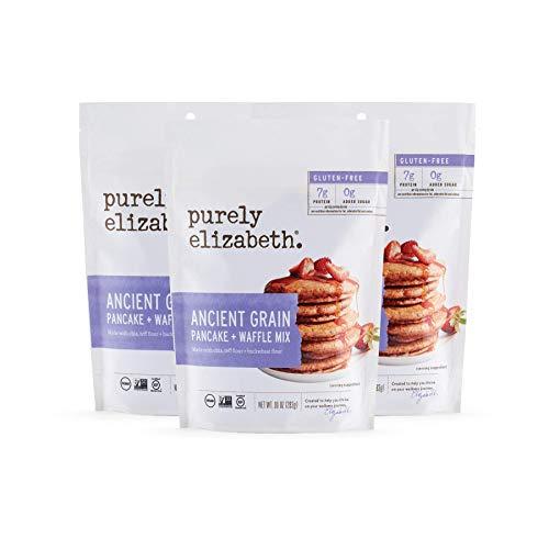 Purely Elizabeth Ancient Grain Pancake Mix, Certified Paleo & Gluten-Free - Alternative Gluten-Free Flour - Non-GMO & Dairy Free - 10oz