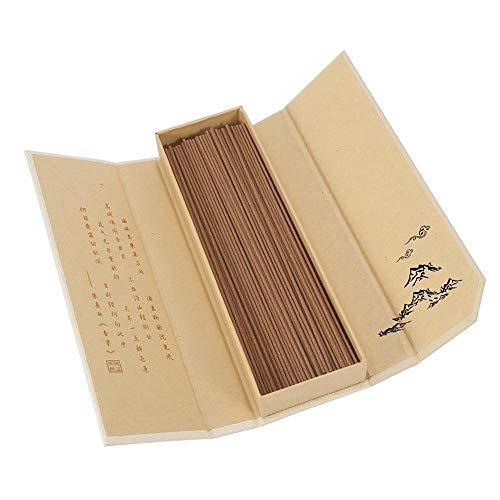 180Pcs / Paket Räucherstäbchen Sandelholz Orientalischen Buddha Buddhistischen Aroma Natur Räucherstäbchen mit Fall Sandelholz für Multifunktionsgebrauch(#1)