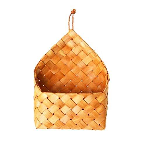 Yililay Pared de la Canasta de Almacenamiento montado en la Pared Que cuelga de Almacenamiento de bambú Tejido de contenedores para jardín de Flores de la decoración del hogar