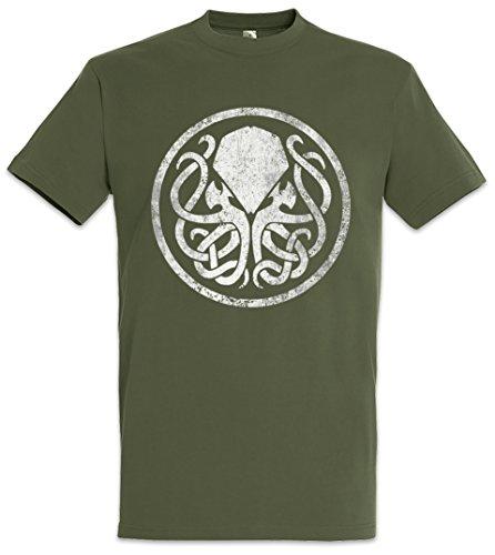 Urban Backwoods Circle Logo Cthulhu Camiseta De Hombre T-Shirt Marrón Talla 2XL