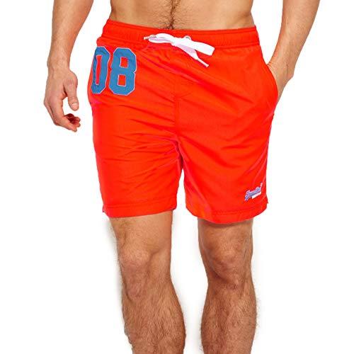 Superdry Herren Water Polo Swim Shorts, Arancione (Havana Orange Vqh), Medium