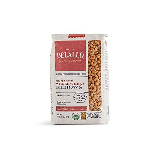 DeLallo Elbows Whole Wheat Pasta #52 (8x1 Lb)