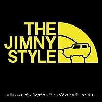 ジムニー 4代目JB64/JB74系ステッカー THE JIMNY STYLE【カッティングシート】パロディ(12色から選べます) (黄色)