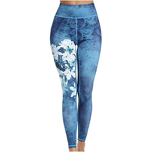 QTJY Medias de Cintura Alta para Mujer, Pantalones Deportivos para Fitness, Pantalones de Yoga, Ajustados, para Correr, Entrenamiento, Mallas Push-up DL