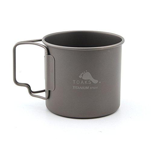 TOAKS Titanium Camping Pot Cup(375ml, 450ml, 550ml, 650ml, 750ml, 800ml, 900ml) (375ml[CUP-375])