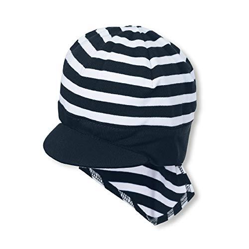 Sterntaler Piratentuch für Jungen mit Nackenschutz und Streifenmuster, Alter: 9-12 Monate, Größe: 47, Blau (Marine)