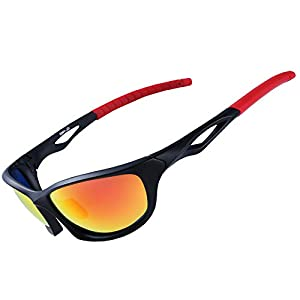 XR Polarized Sport Sunglass for Run Bike Fish 100% UV Protect TR90 Unbreakable Frame for Adult