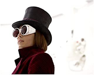 Johnny Depp 8x10 Photo Charlie and the Chocolate Factory Huge White Sunglasses Almost Profile Pose 2 kn