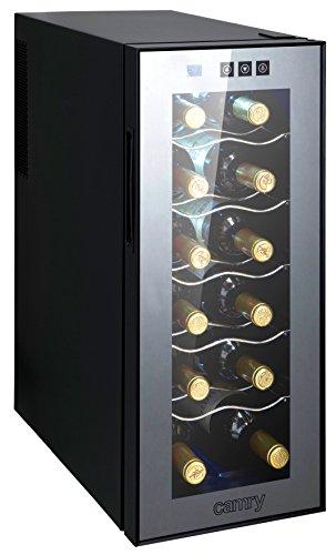 Camry vinoteca, 125 W, 33 litros, 0 Decibelios, Acero, Gris