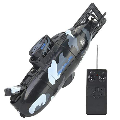 Tbest Juguete Submarino RC, Mini simulación de Control Remoto Militar Modelo de Juguete Submarino de 6 Canales(Negro)