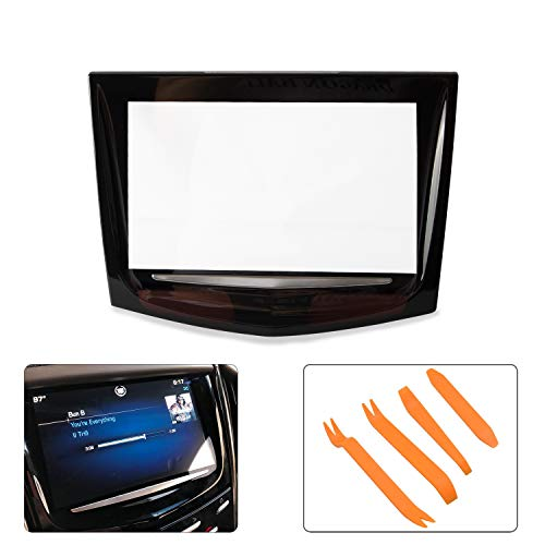 Touch Screen Display CUE Replacement Protector With Trim Removal Tool Kit Compatible with 2013-2017 Cadillac ATS Escalade SRX XTS/ELR CTS CTS-V
