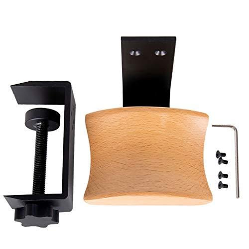 Soporte para Auriculares Desktop Lock Clip creativo Headset Soporte auricular del metal del soporte de auriculares del auricular de soporte del gancho de percha Soporte Exhibidor para Auriculares de J