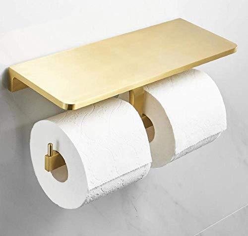 DXX-HR Soporte de papel de aluminio para baño con estante de almacenamiento y cenicero montado en la pared doble rollo dispensador de toallas