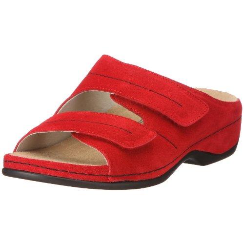 Berkemann 01080 Melbourne Fedora washable, Damen Clogs & Pantoletten, Veloursleder, Rot (rot 250), EU 41.5, (UK 7.5)