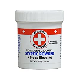 + REMEDY+ RECOVERY + DOGSWELL Styptic Blood Stopper Powder for Dogs & Cats 1.5 oz. Container
